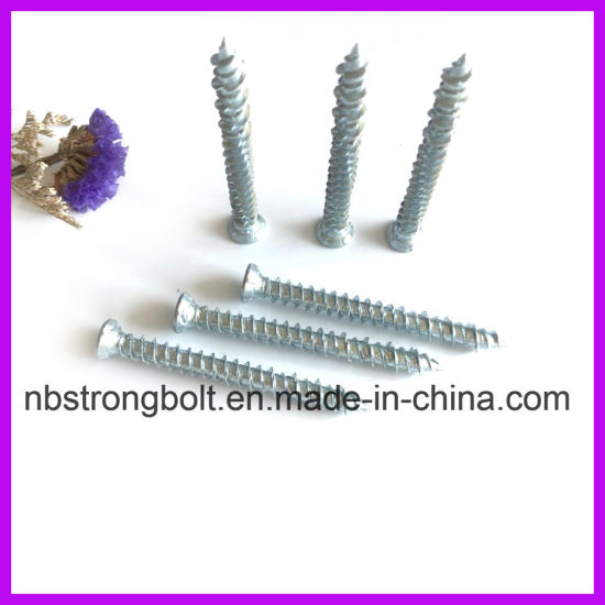 7.5X72 C1022 Acero Tornillo de concreto / China Tornillo de concreto fabricante, China tornillo fábrica